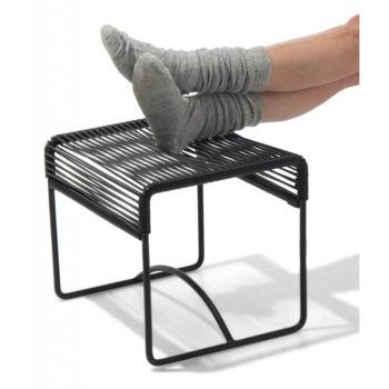Xalapa bench & footstool Fair Furniture black