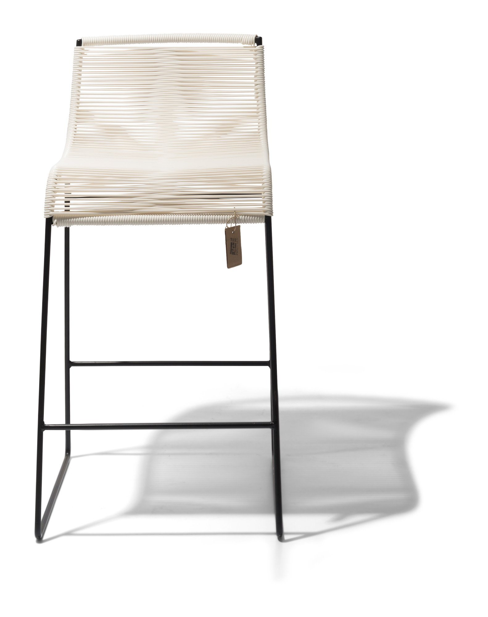 Barstool white Fair Furniture front view