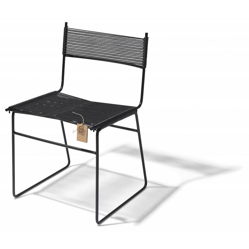 Fair Furniture dining chair black pvc sled