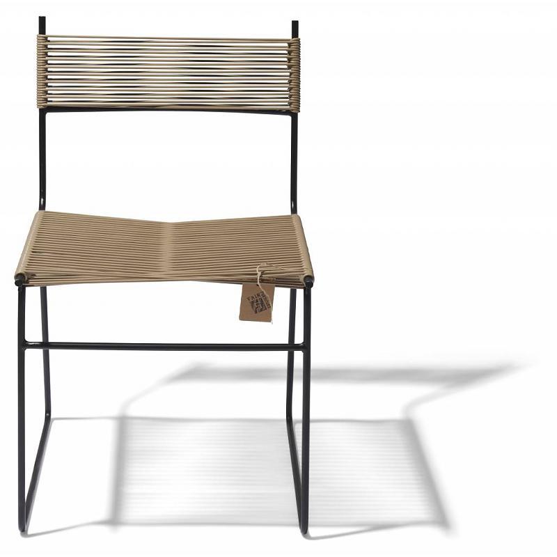 Polanco dining chair sled leg beige 2