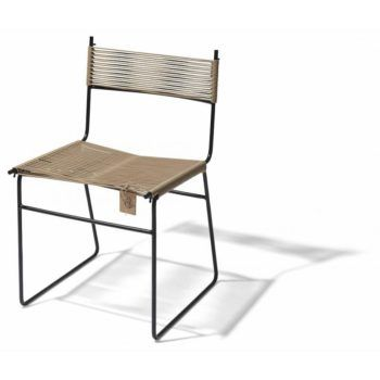 Polanco dining chair sled leg beige