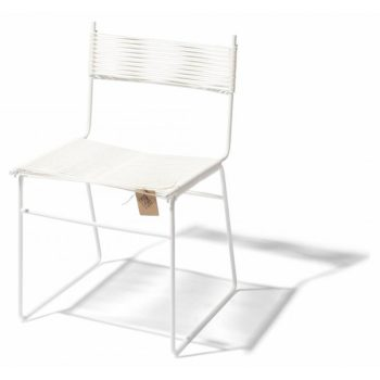 Polanco dining chair sled leg white Fair Furniture