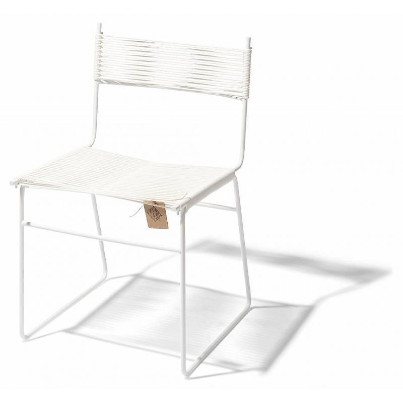 Silla de comedor base patín Fair Furniture blanco