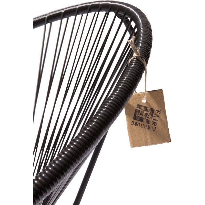 Condesa schommelstoel zwart detail