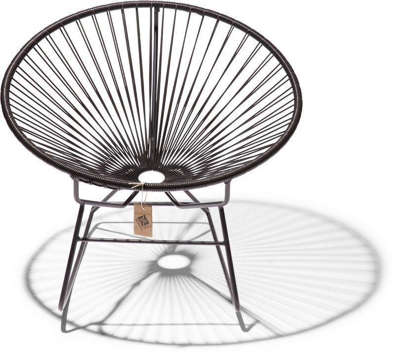 Condesa schommelstoel zwart recht