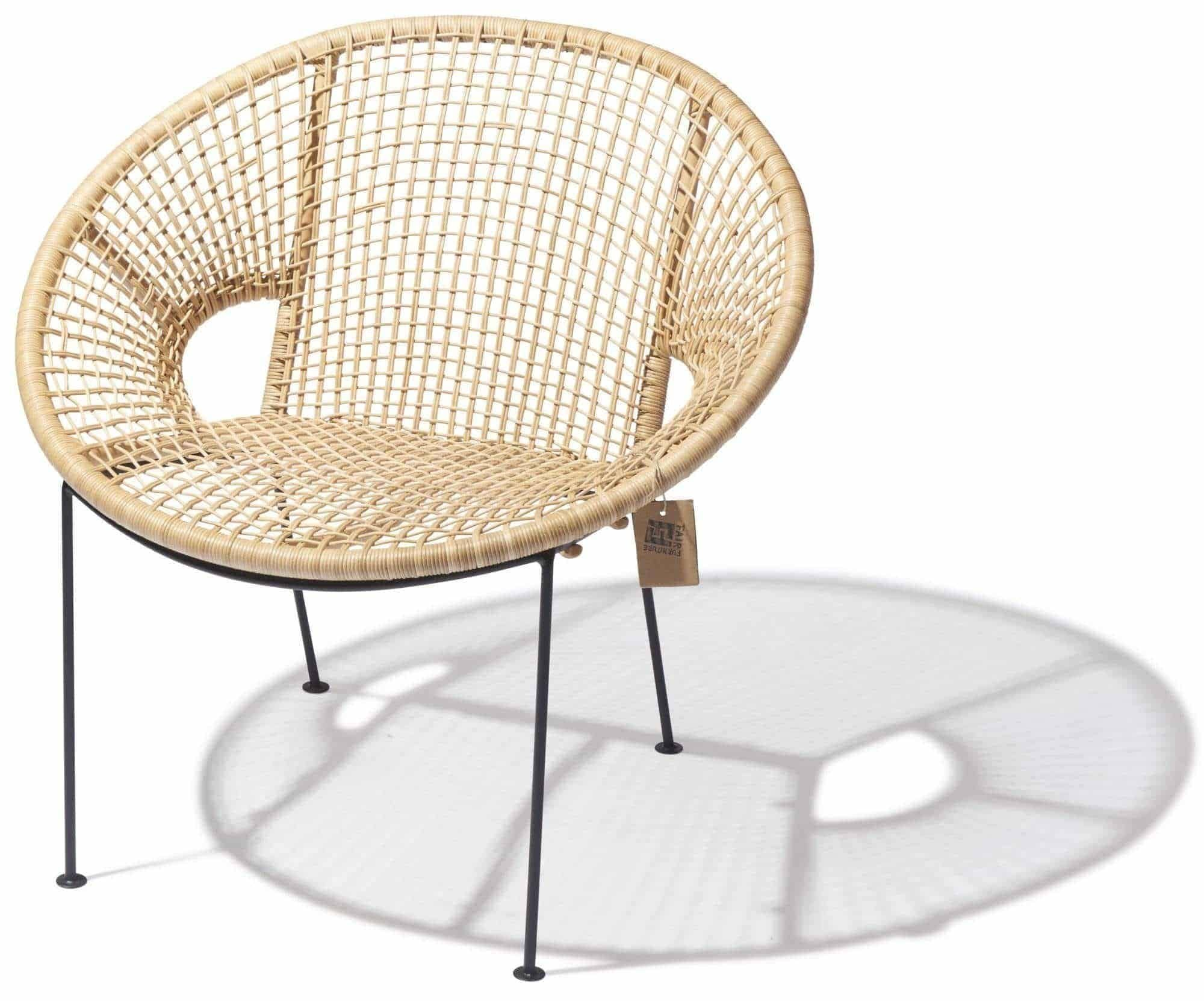 Ubud chair rotan Fair Furniture angle view