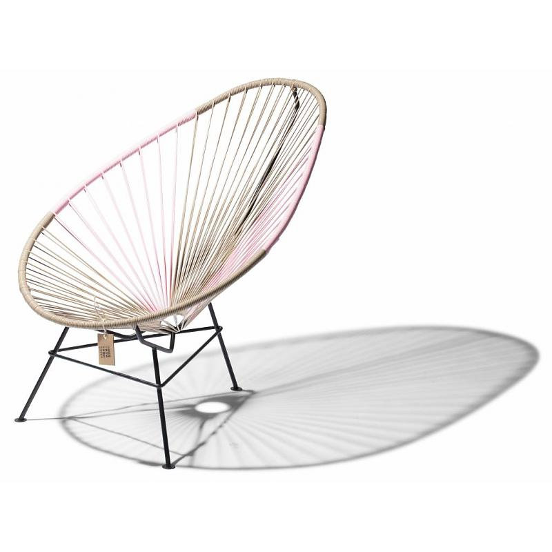 Acapulco lounge chair bicolor beige and pink