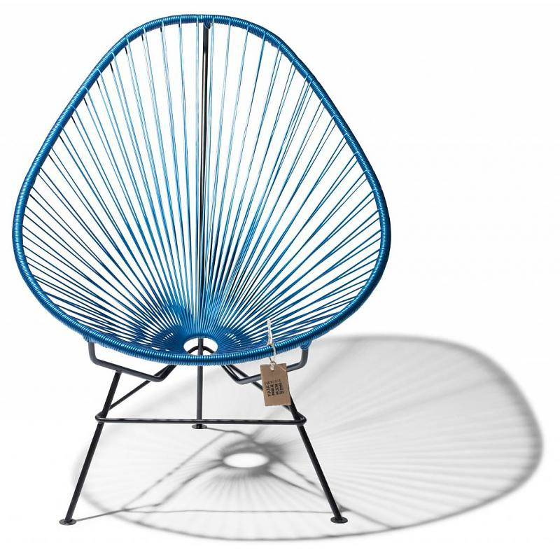 Acapulco lounge chair in metallic blue