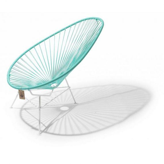 Acapulco chair turquoise light, white frame 2