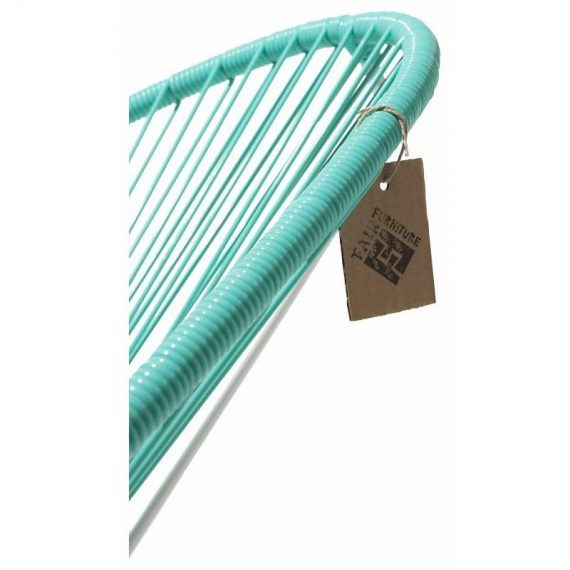 detail turquoise pvc Acapulco chair