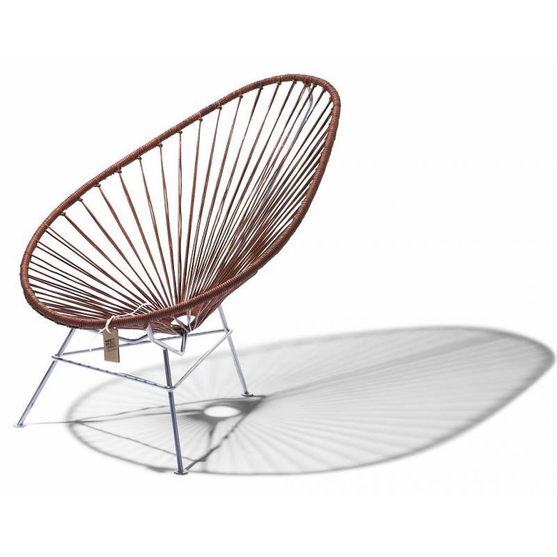 Fair Furniture leather Acapulco chair with chrome frame