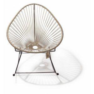 Acapulco schommelstoel beige 2