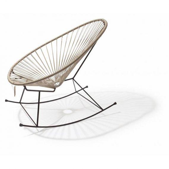 Acapulco schommelstoel beige 1
