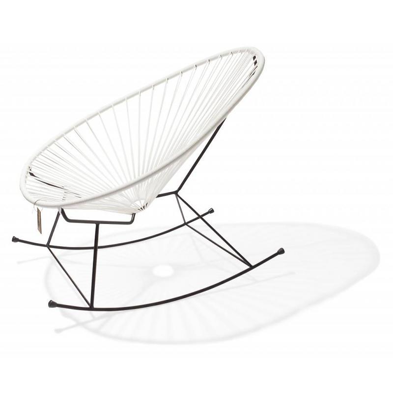 Acapulco schommelstoel wit