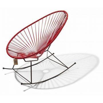 Acapulco schommelstoel rood