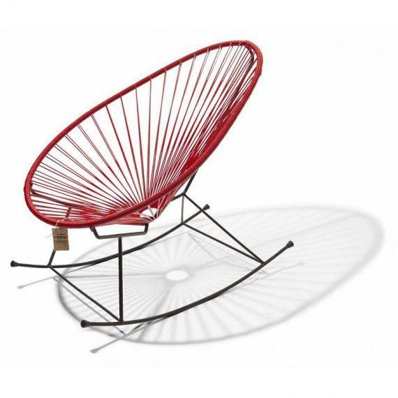 Acapulco schommelstoel rood 1