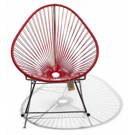 Acapulco schommelstoel rood 2