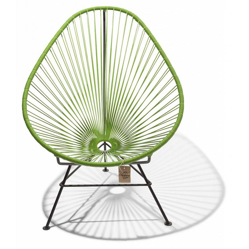 Original Acapulco chair in olive green color