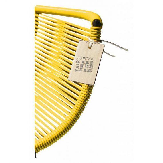 Barstoel geel 3