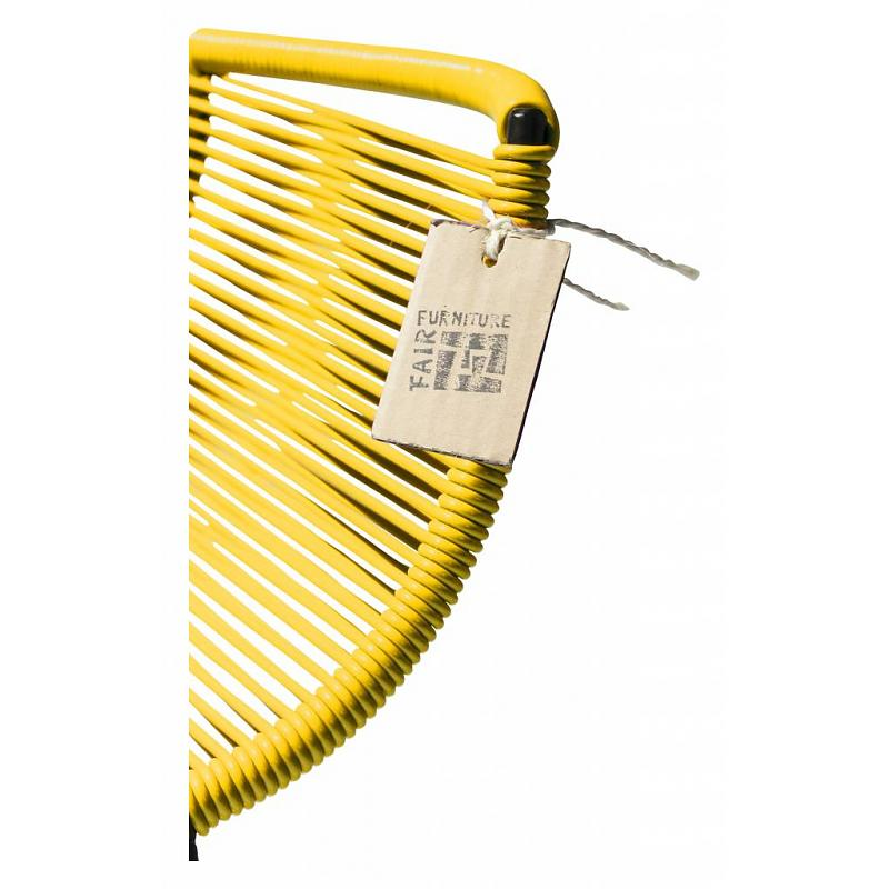 detail yellow cords seat stool