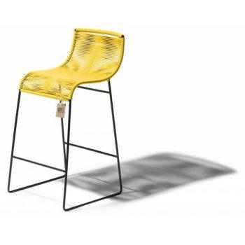 stylish bar stool in yellow fair furniture