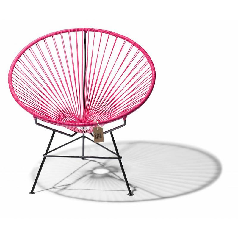 Silla lounge Fair Furniture en color bugambilia