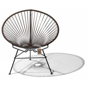 Condesa lounge chair in chocolate brown
