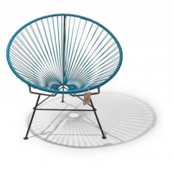 comfortable armchair in unique petroleum blue color
