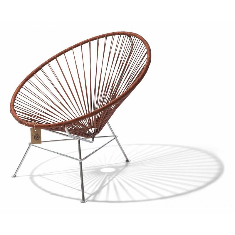 Condesa chair leather cords chrome frame
