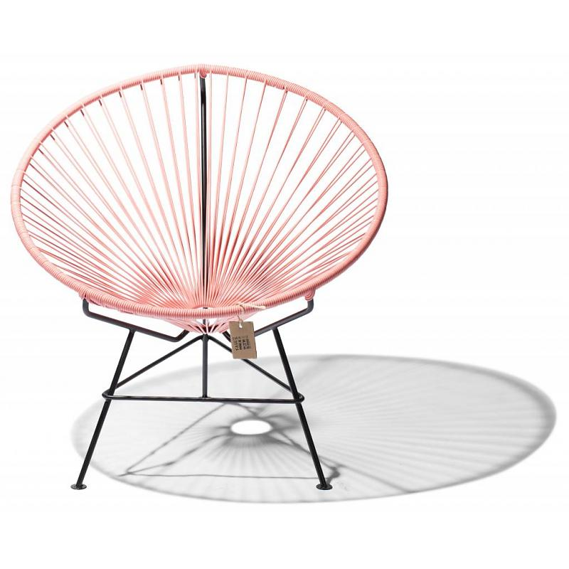Salmon pink lounge chair Condesa, indoor&outdoor