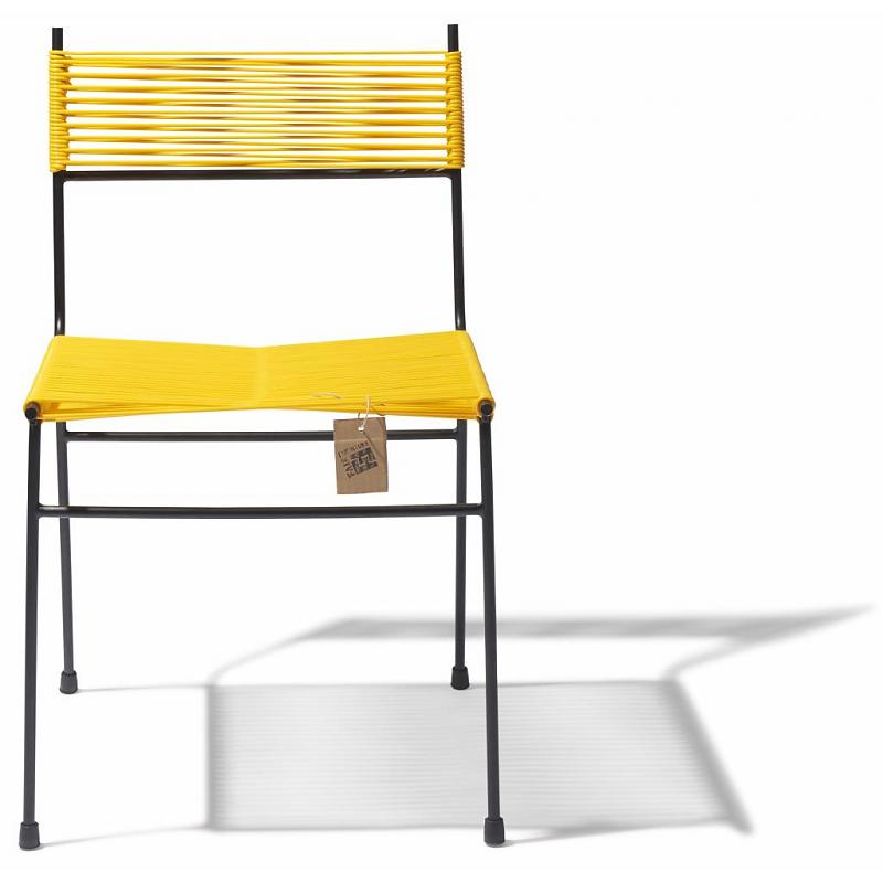 Polanco dining chair front yellow