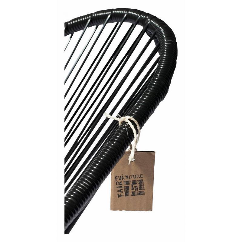 detail pvc acapulco chair black