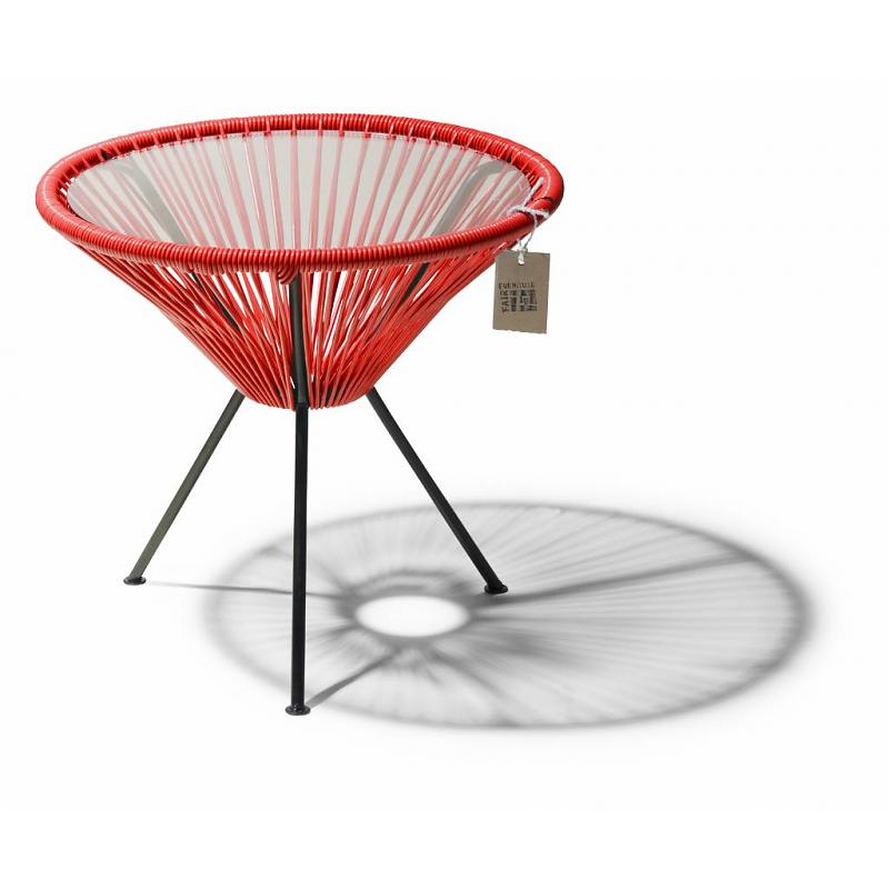 Red side table Fair Furniture
