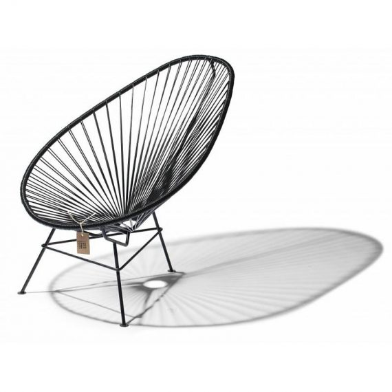 classic black version of the original Acapulco chair