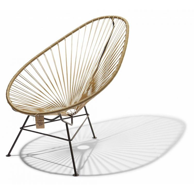 Acapulco Lounge Chair Gold Color Fair Furniture ...