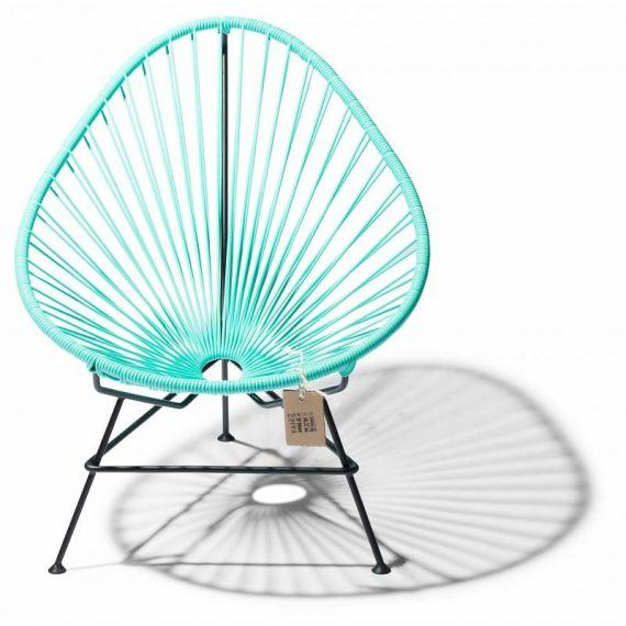 front view baby Acapulco chair aqua/turquoise light