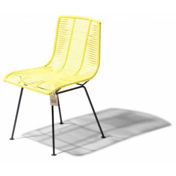Rosarito dining chair canary yellow