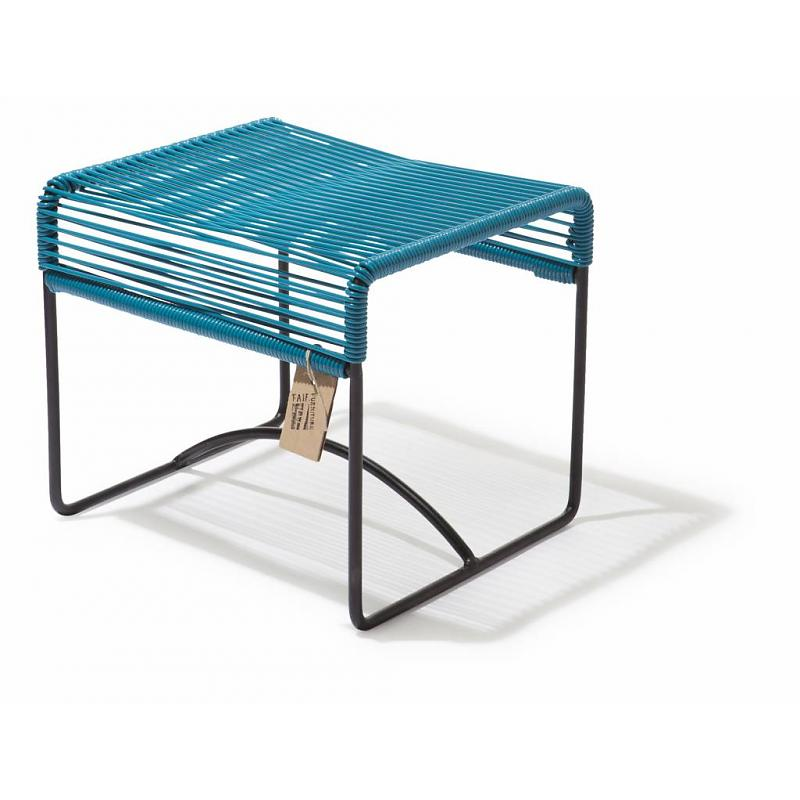 Xalapa bench & footstool Fair Furniture petrol blue
