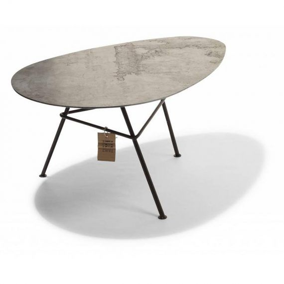 Zahora table, corten steel