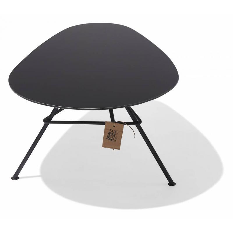 Black Zahora table, glass 2