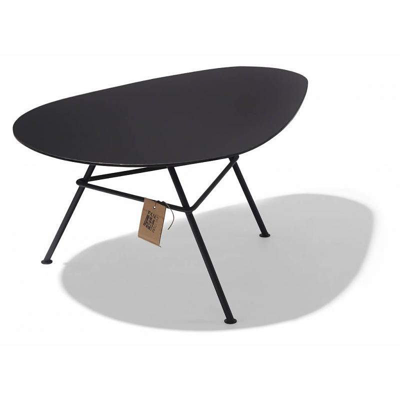 Black Zahora table, glass