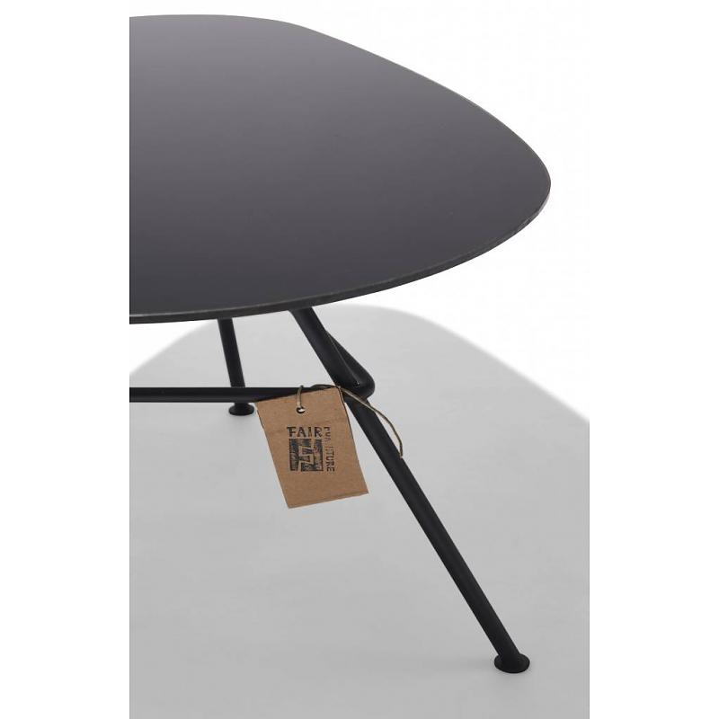 Black Zahora table, glass detail