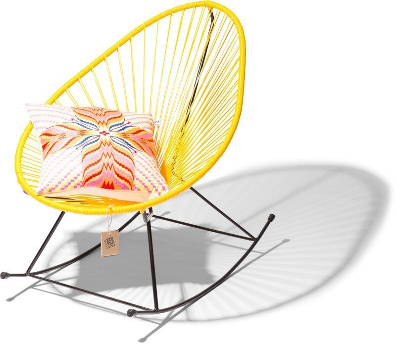 Acapulco rocking chair yellow cushion