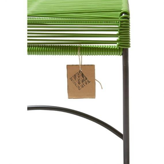 Stool Xalapa – groen detail
