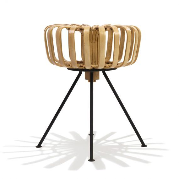 Side view bamboo stool