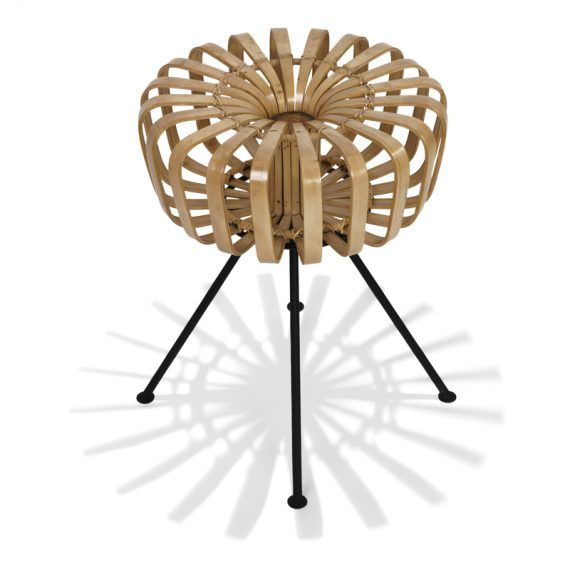 Top view bamboo stool