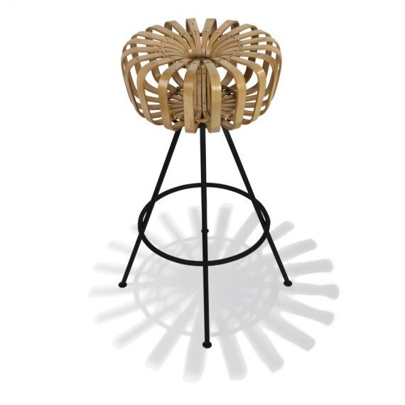 Top view bamboo barstool