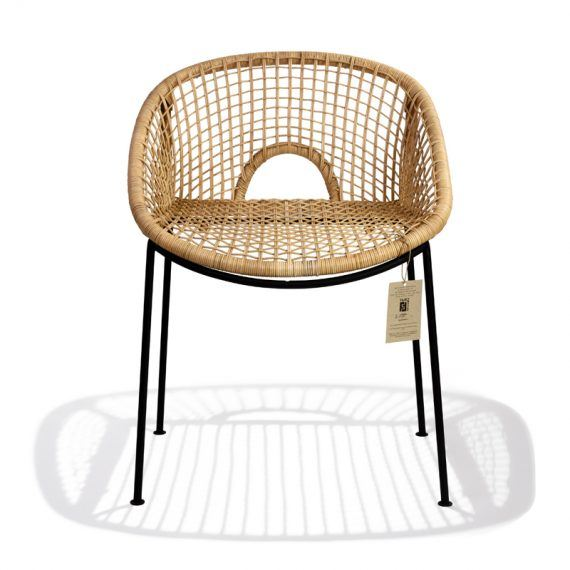 Ubud dining chair H -1- FrontLabel