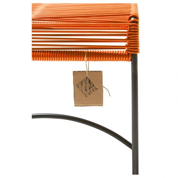 Stool Xalapa – oranje detail