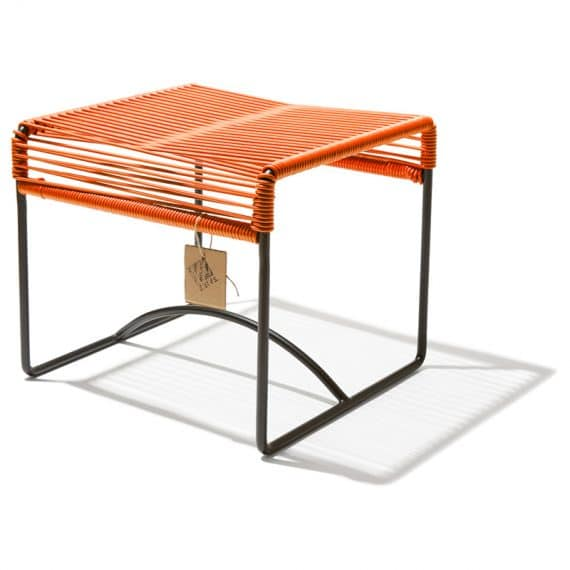 Stool Xalapa – oranje zijkant